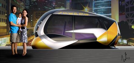 空中出租车效果图,车厢。由NanikStudio设计。©SkyCab公司