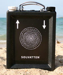 Solvatten purifies 10 litres of water in three to five hours.