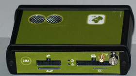The 2MA-5X can communicate directly with the vehicle's service port.