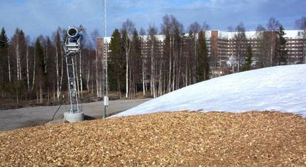 Sundsvall Hospital is cooled by a snow bank of about 60,000 cubic meters.
