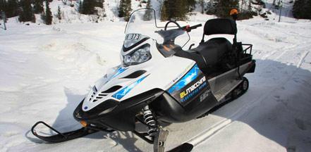 世上首辆电动雪地摩托车原型。