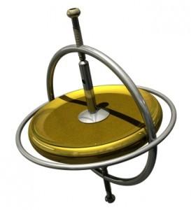 陀螺仪是动力保存原理的范例。